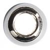 Metal Beads Round 8mm/4mm Hole Rhodium